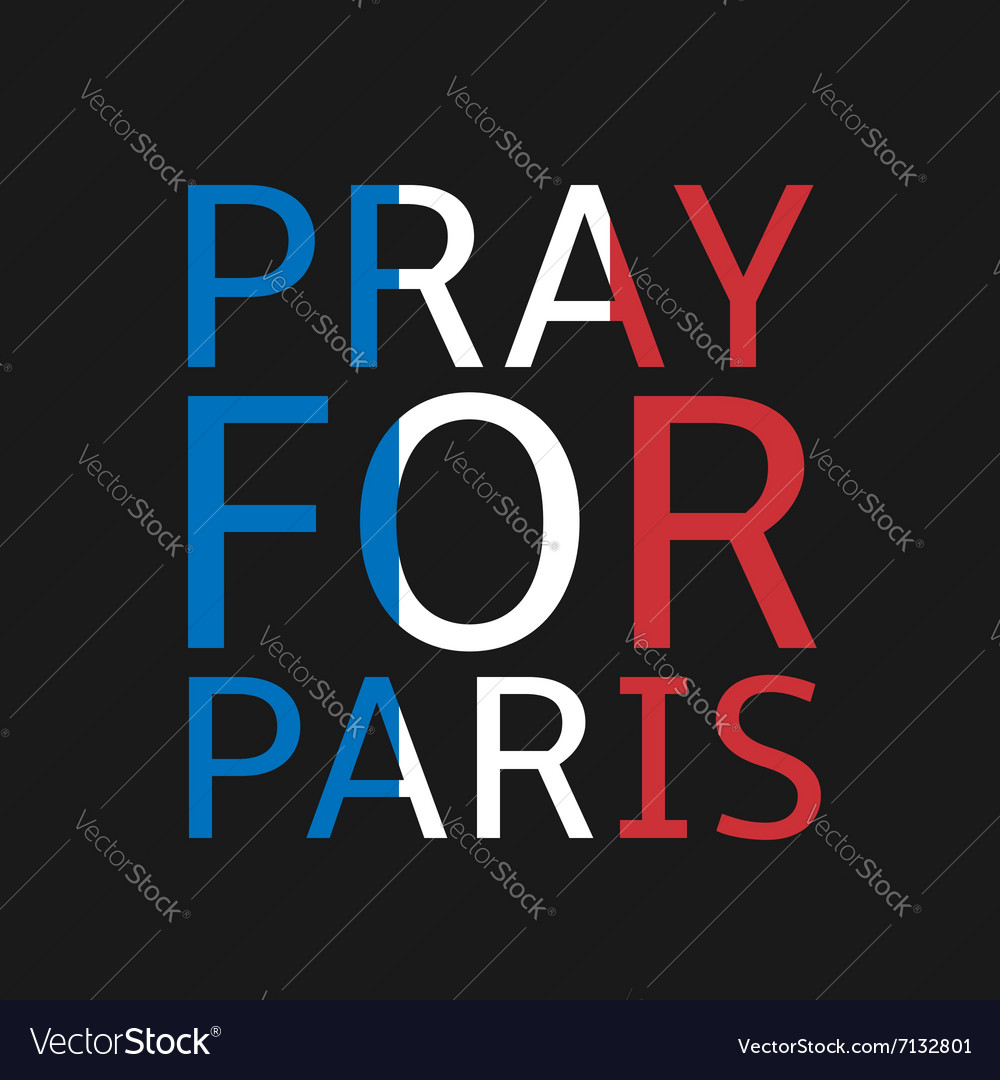 pray for paris royalty free vector image vectorstock