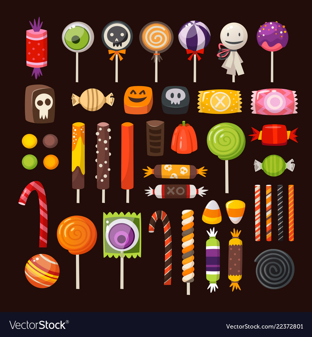 Set of haloween candies
