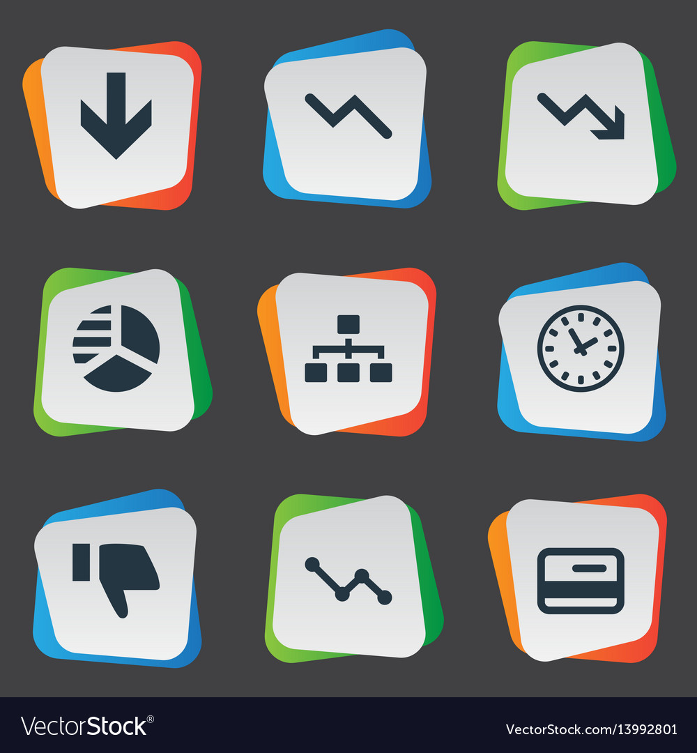 Set of simple impasse icons