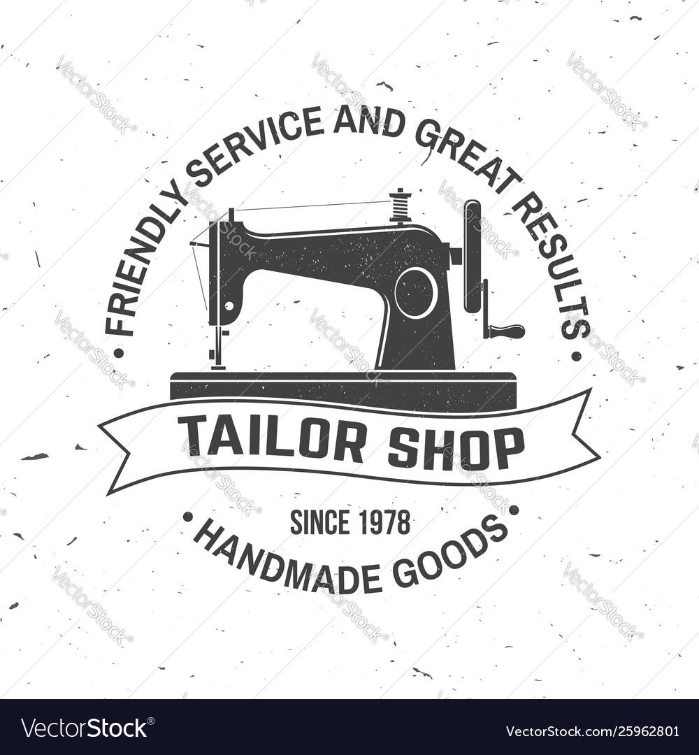 Tailor shop badge concept for shirt