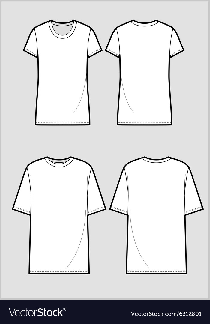 Technical sketch of white t-shirt
