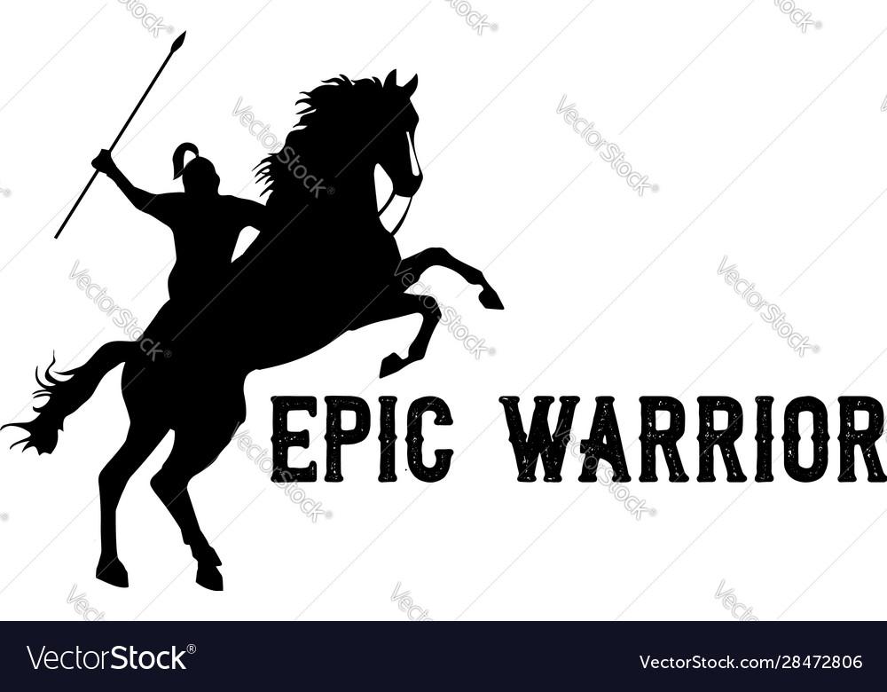 Horseback knight silhouette horse warrior