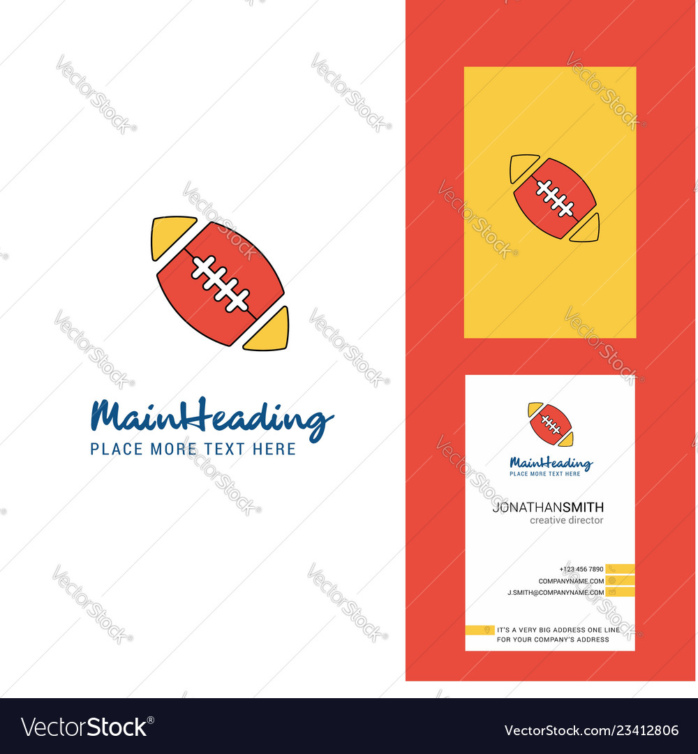 Rugby ball creative logo and business card