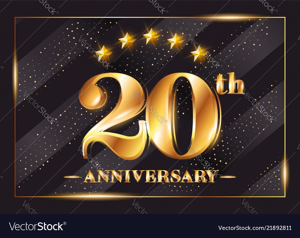 20 years anniversary celebration logo 20th