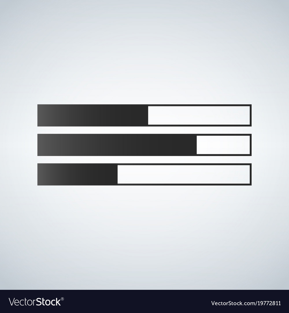 Bar chart flat icon isolated vector image