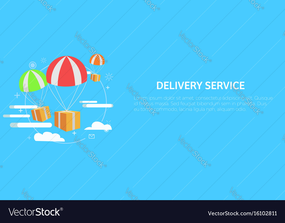 Delivery service package by air gift