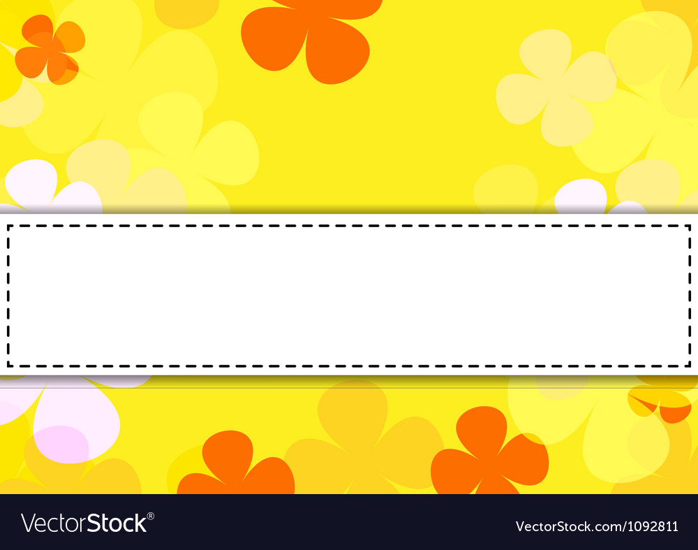 Flowers texture of Orange color vector image
