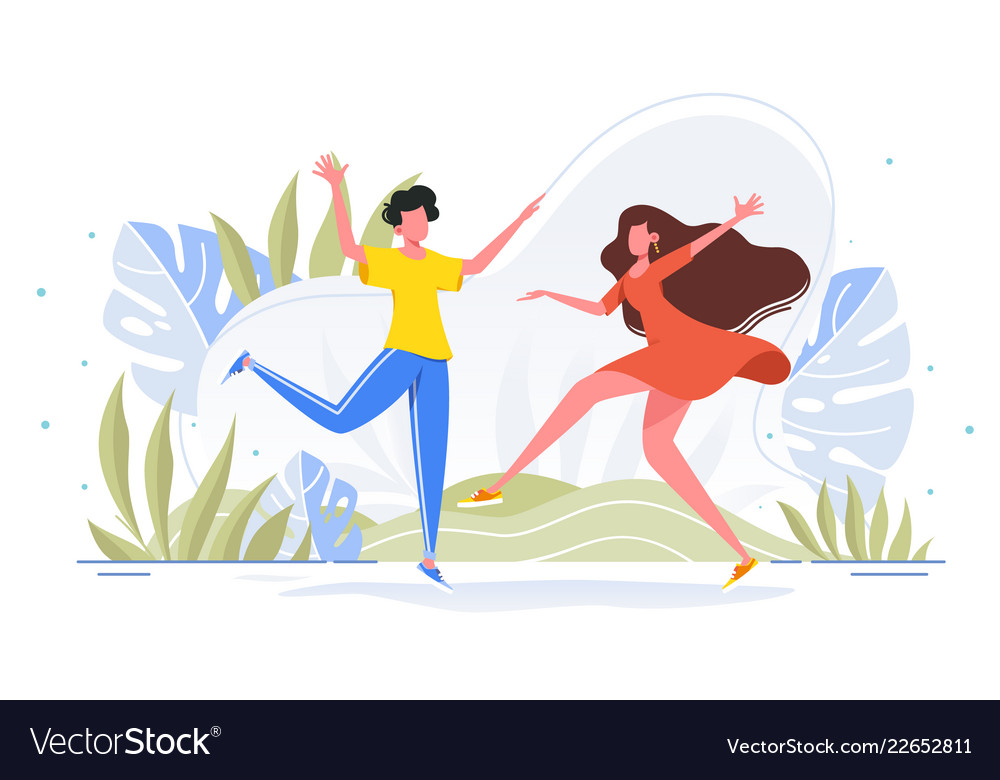 Friends Dance And Joy Together In Casual Wear In