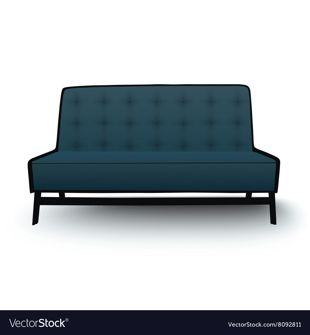 Old Fashioned Divan Sofa Isolated Vector Image