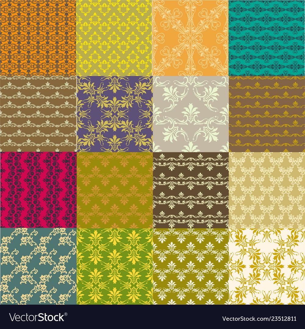 Seamless vintage patterns