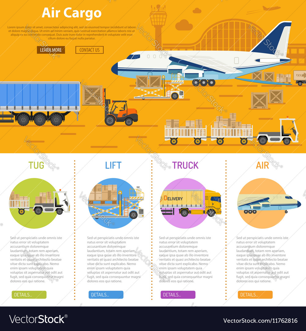 Air Cargo Infographics Royalty Free Vector Image