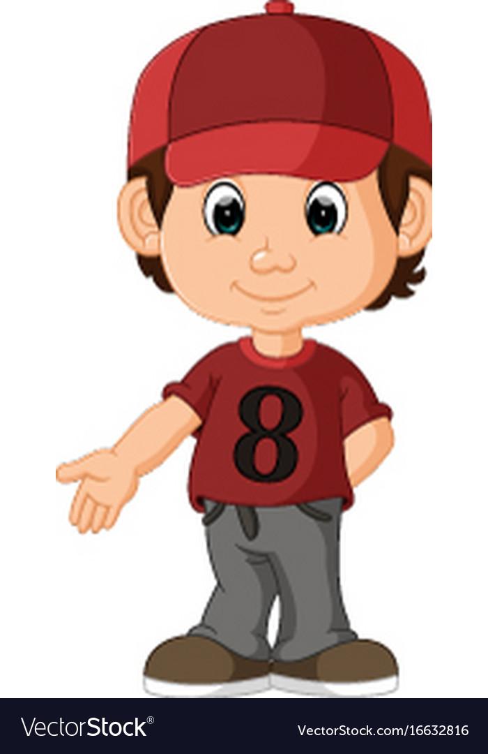 Cute Boy Cartoon Royalty Free Vector Image Vectorstock