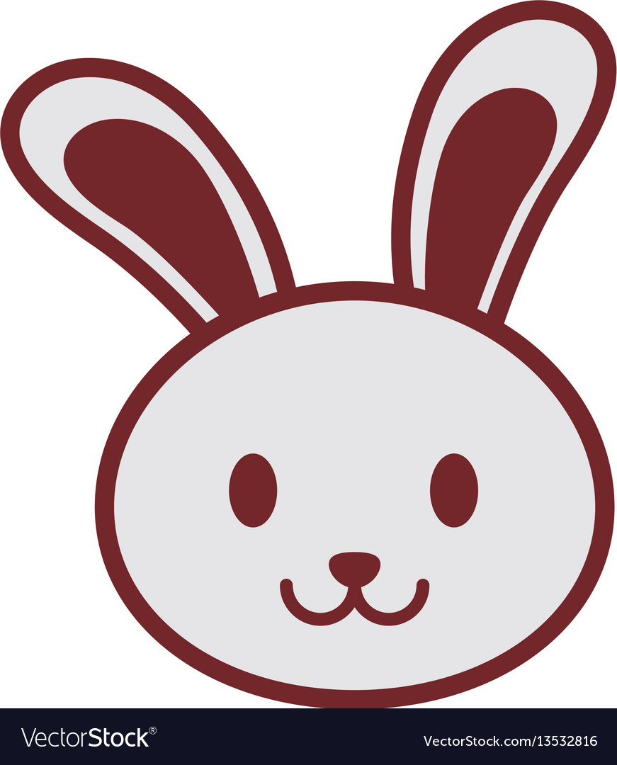 Cute bunny face image vector image