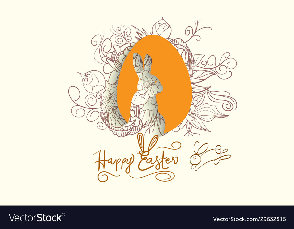 Easter background with traditional decorations