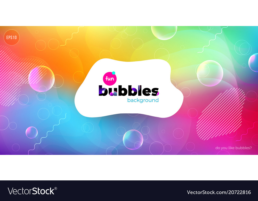 Fun liquid color background with bubbles fluid