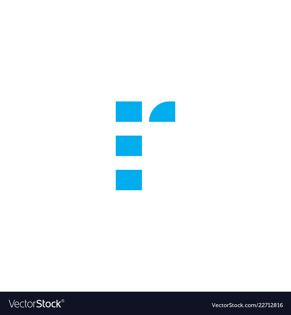 Logo letter r blue stripes