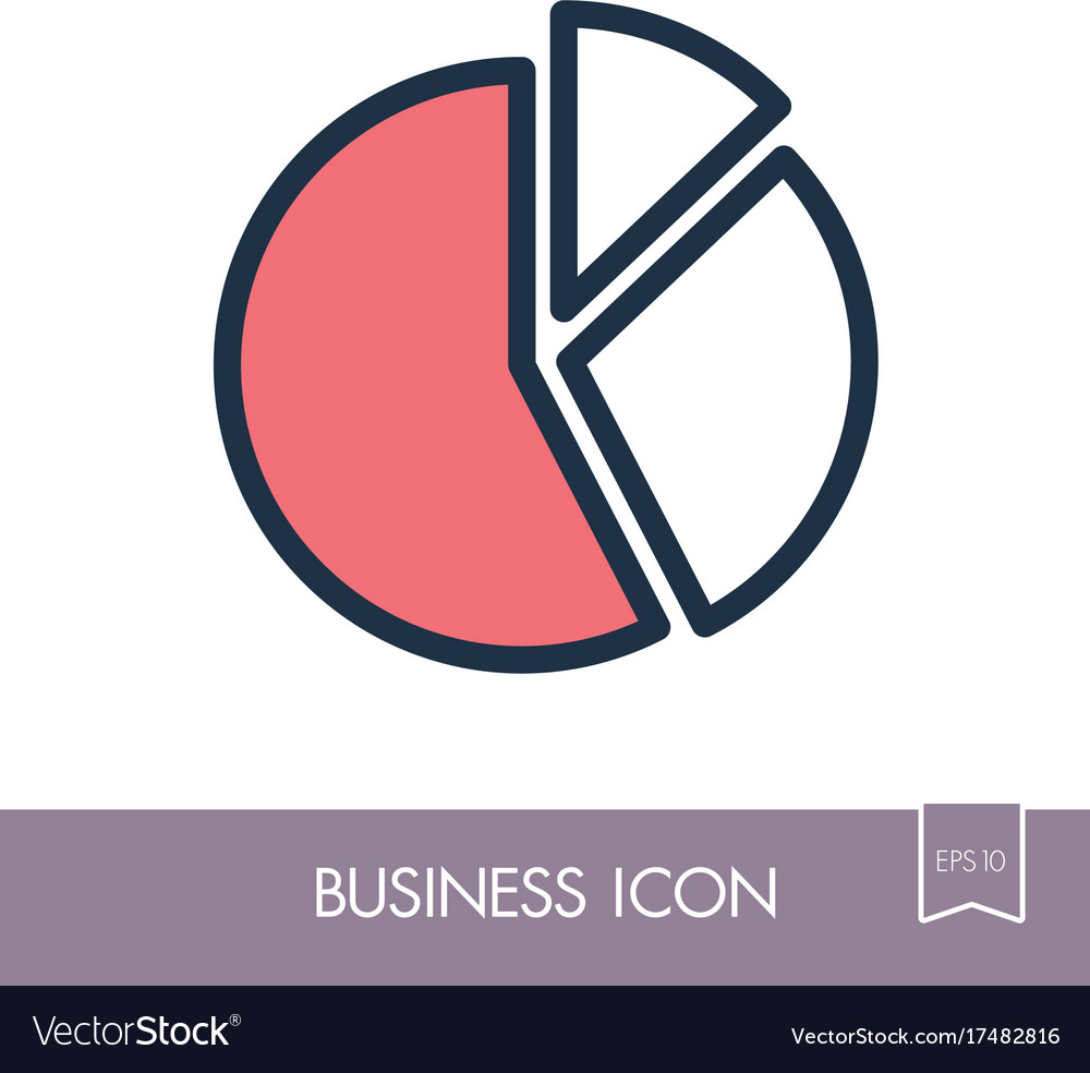 Pie chart icon finances sign