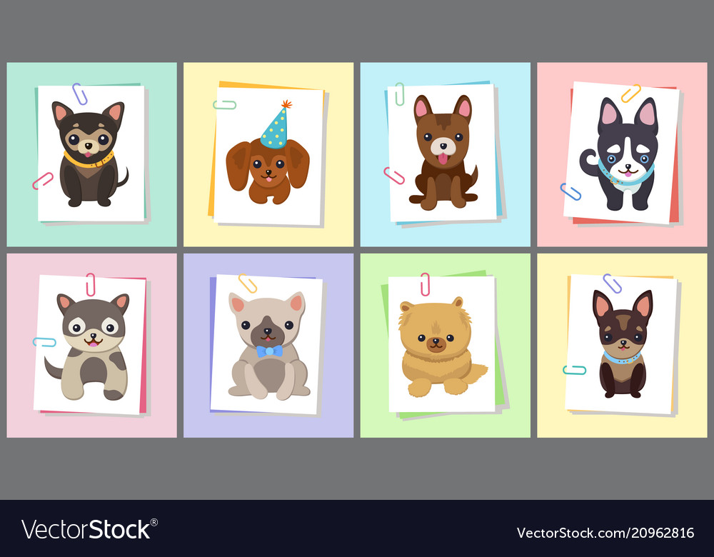 Puppies and dogs poster set