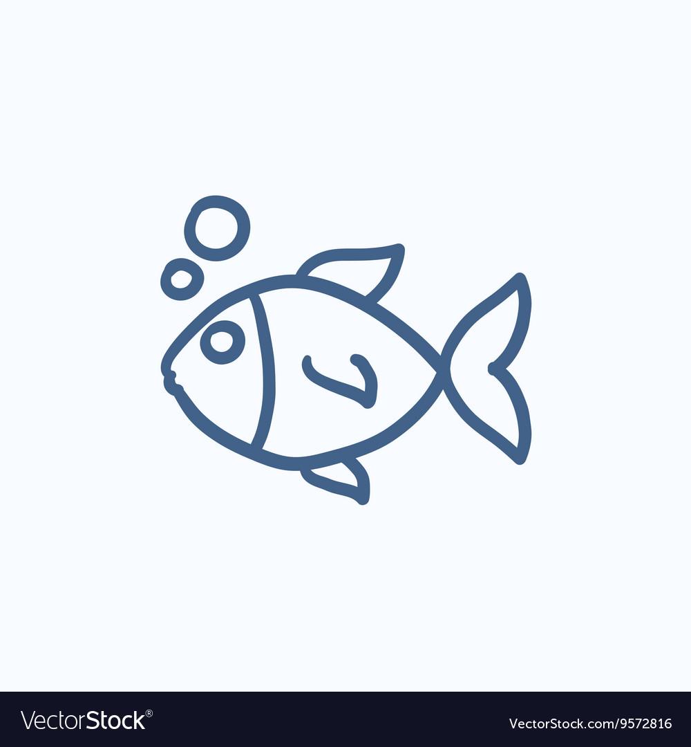 Small Fish Sketch Icon