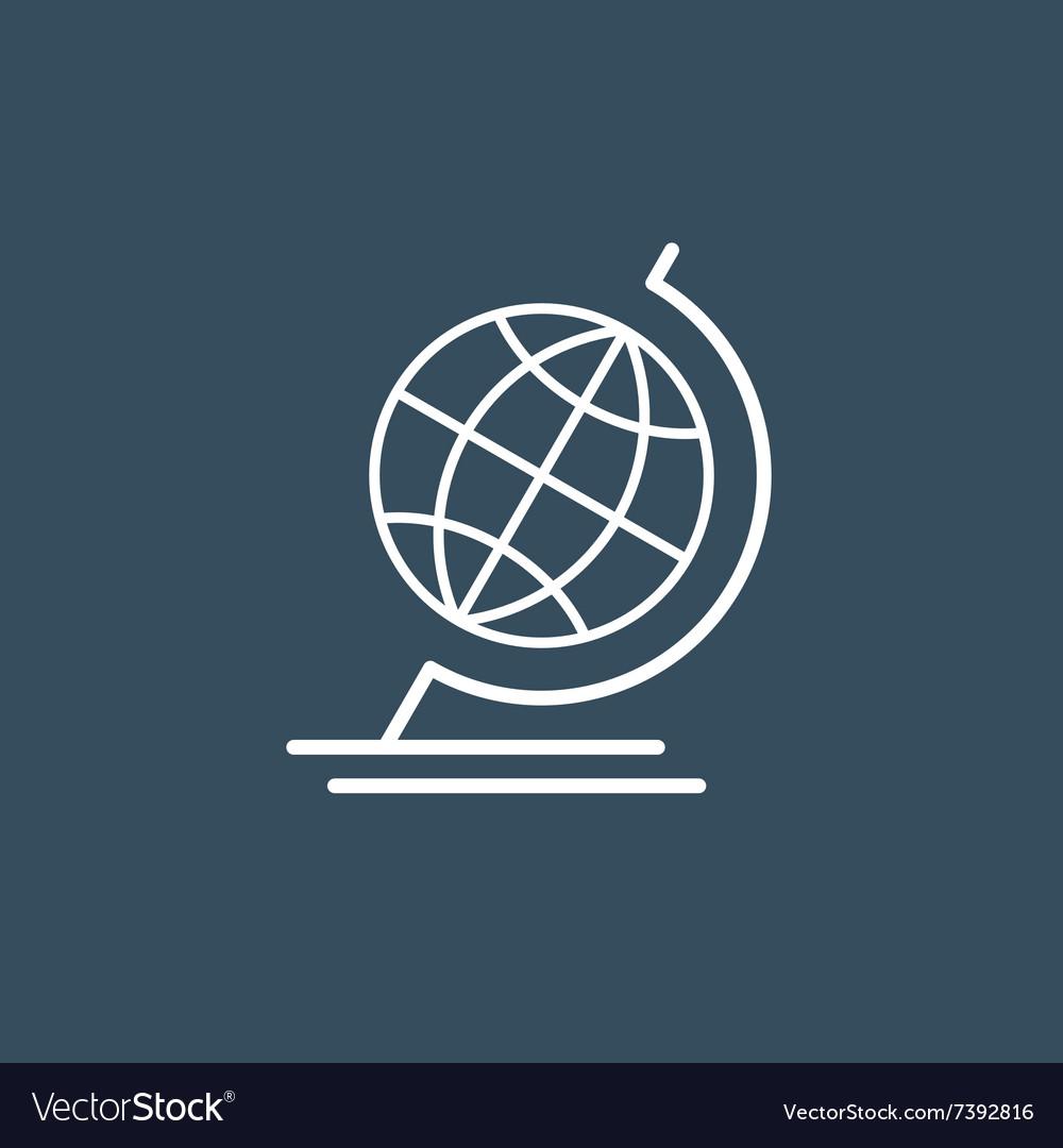 Terrestrial globe wireframe icon