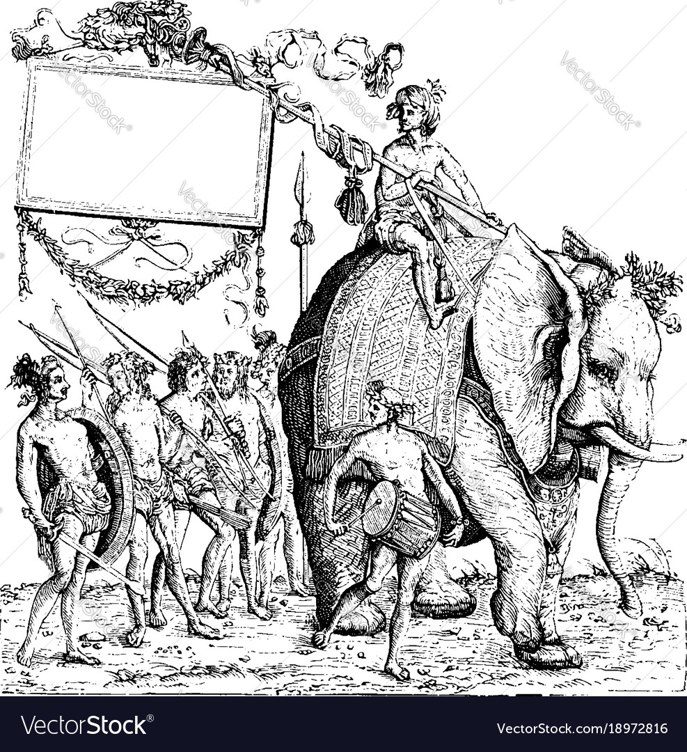 The savages of calicut from the engraving the