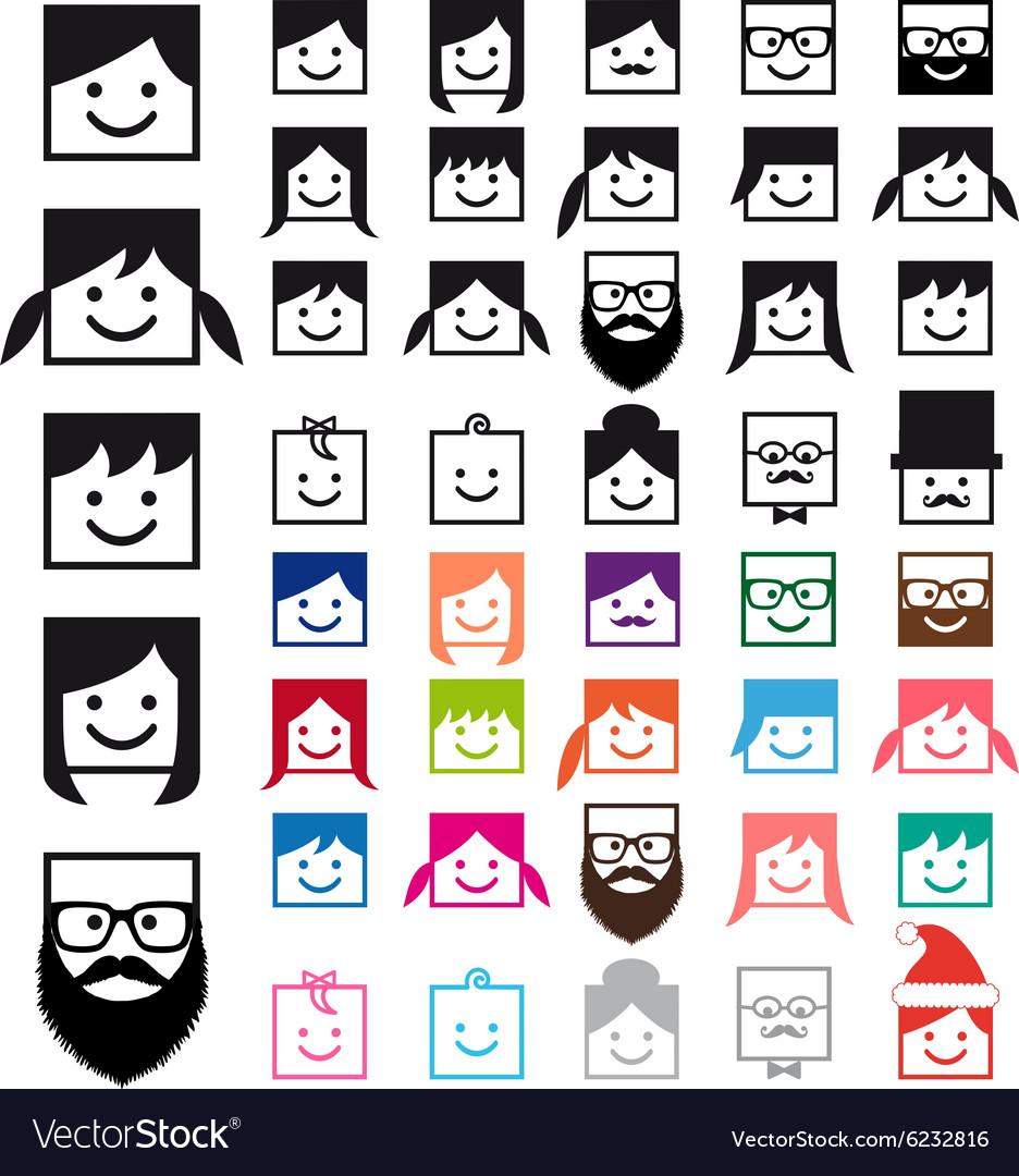 User avatars people icon set