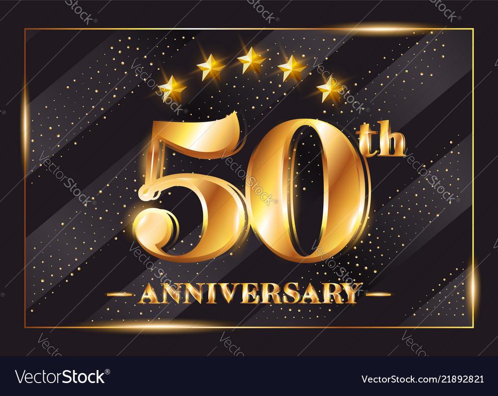 50 years anniversary celebration logotype 50th