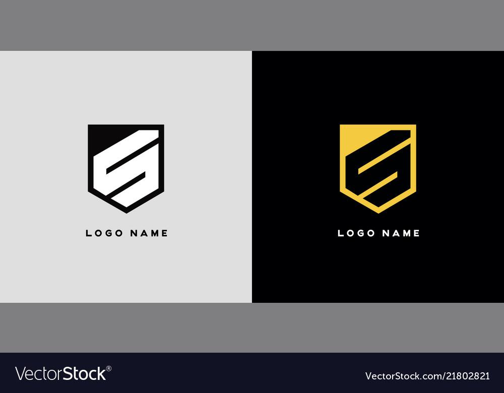 Geometric letter s logo