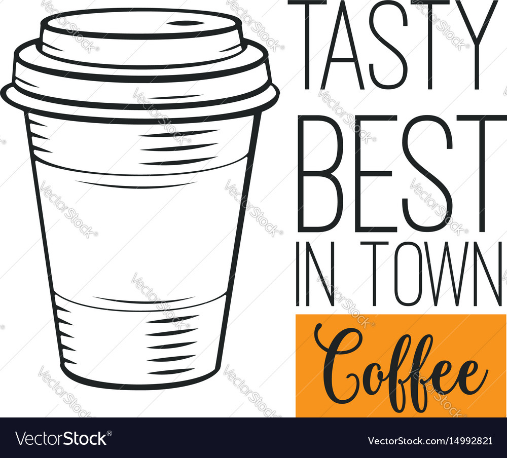 Hand drawn coffee icon