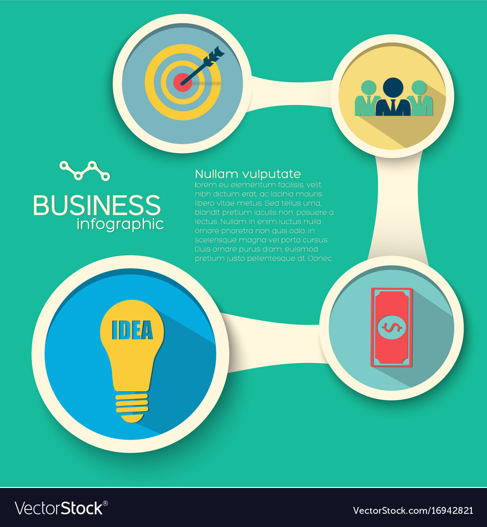 Infographic business design template vector image