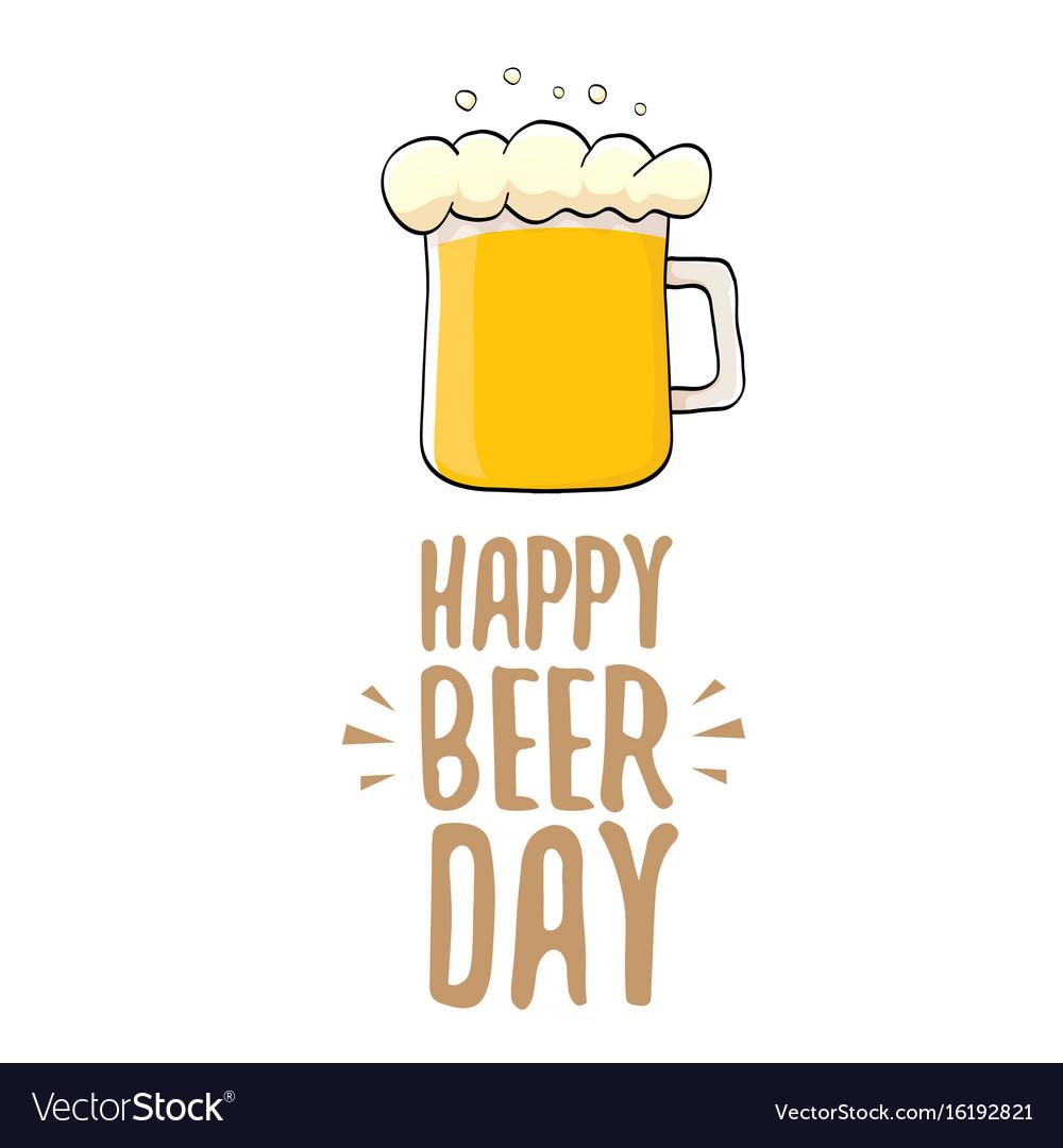 International beer day label