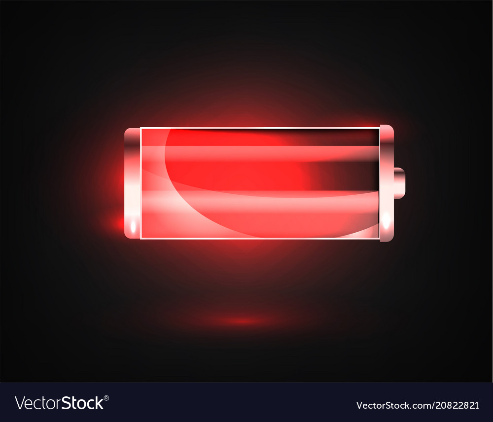 Low Battery Charging Status Indicator Vector Image Flat
