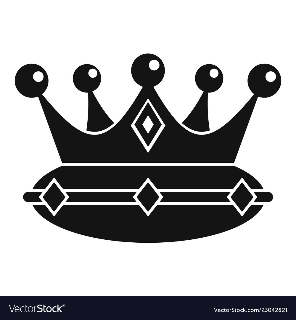 Queen Crown Icon Simple Style Royalty Free Vector Image