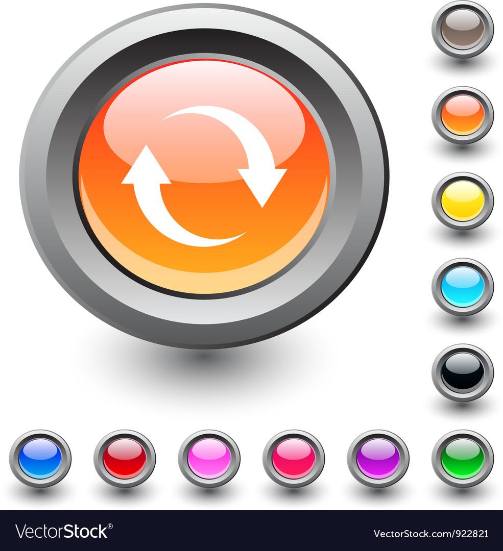 Refresh round button vector image