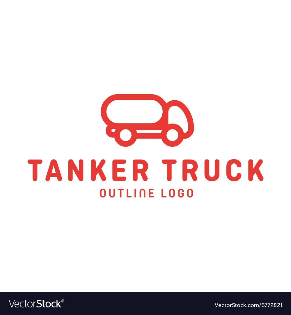 Truck trending an outline line quality logo