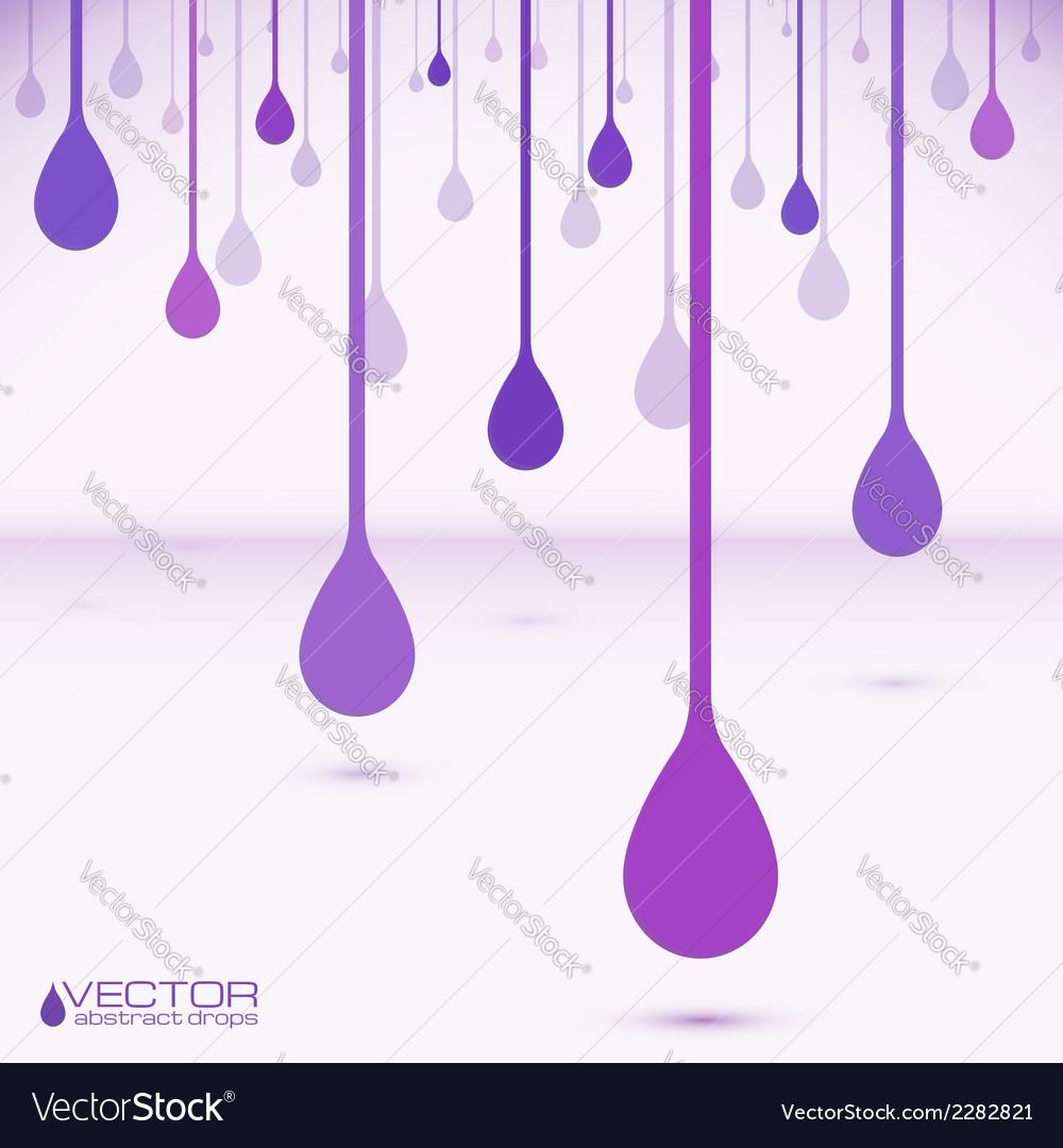 Violet flat water drops vector image