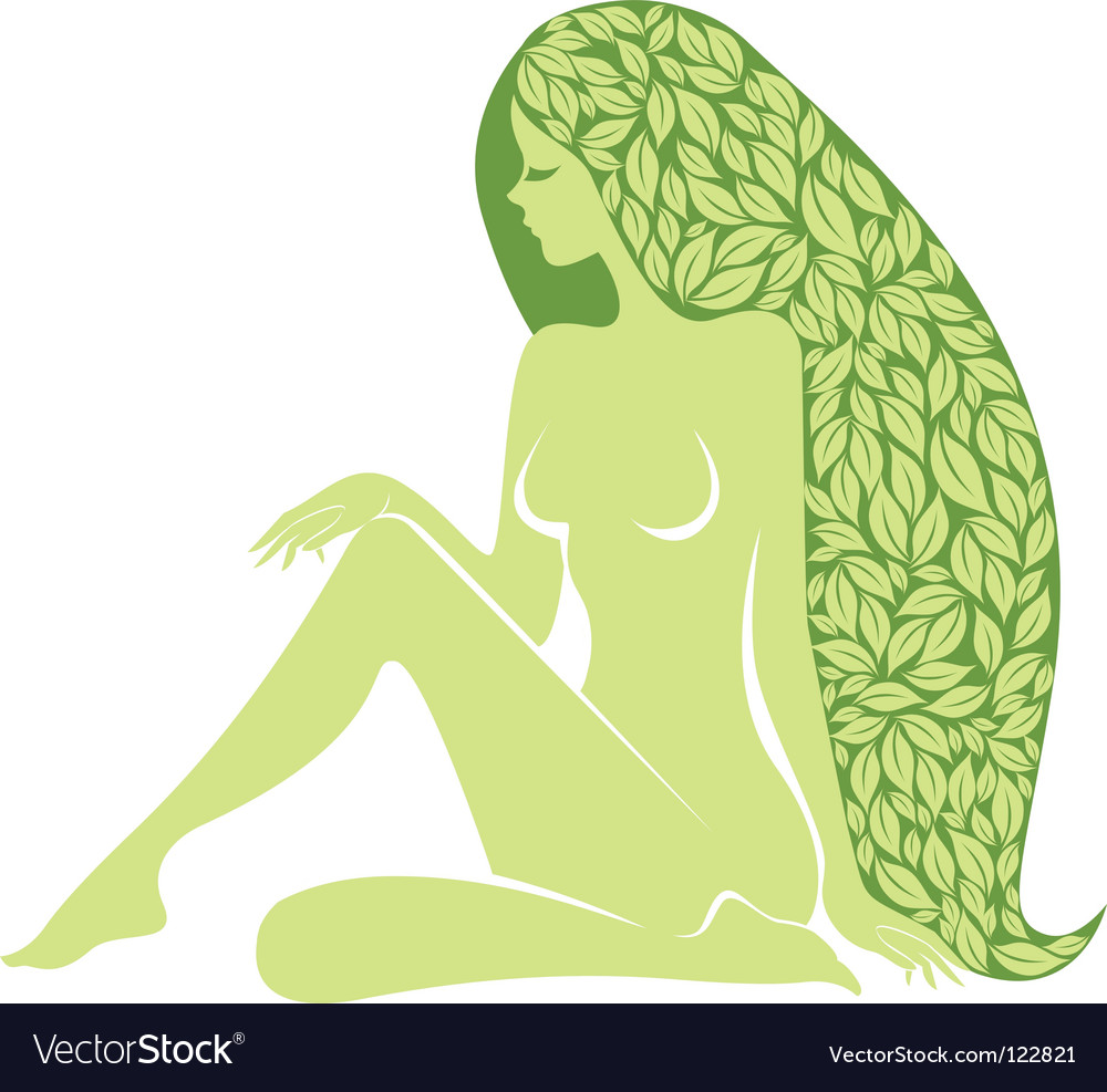 Woman with long healty hair