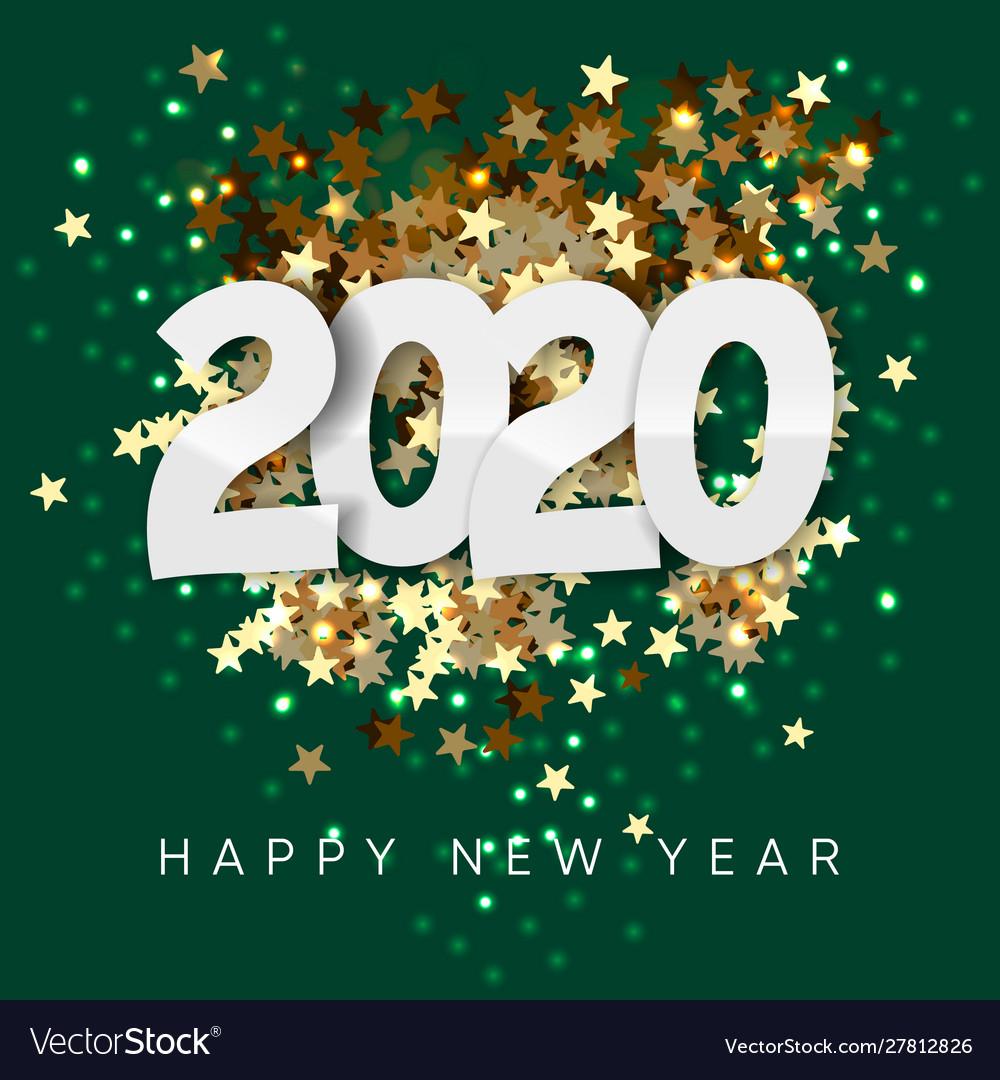 2020 happy new year background merry christmas vector image vectorstock