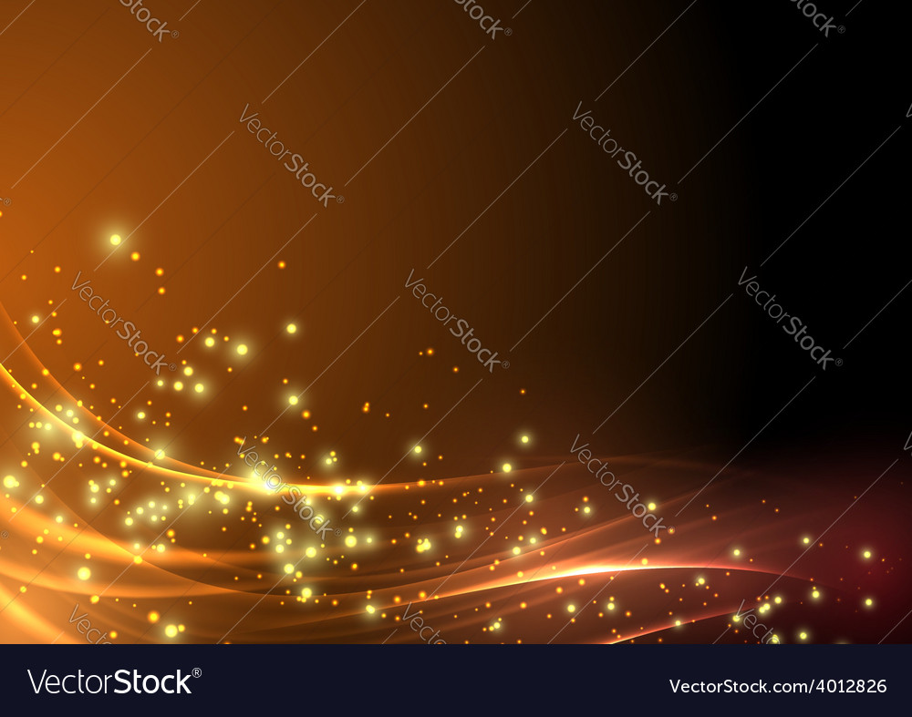 Abstract modern shimmering light flare wave