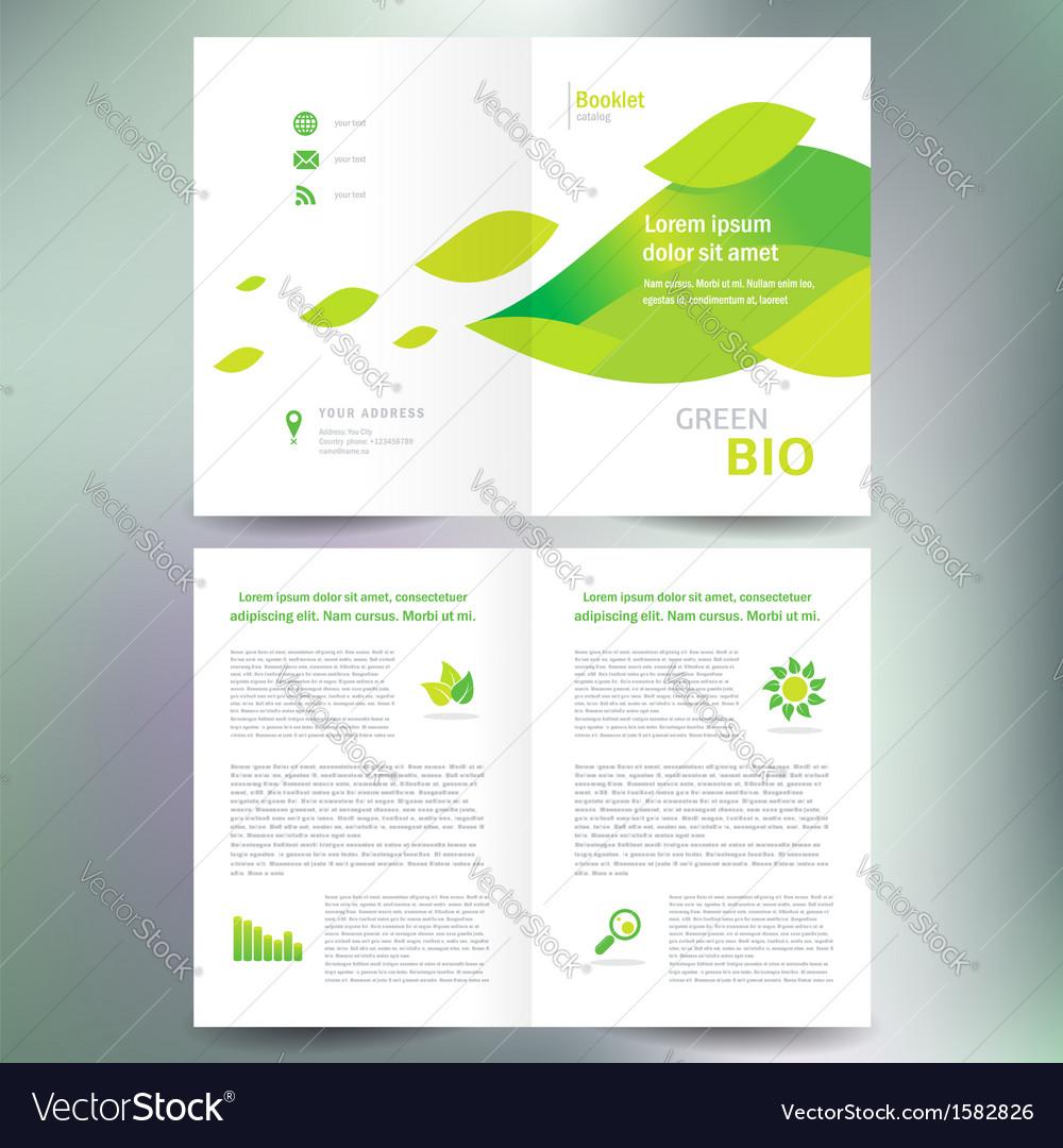 Booklet catalog brochure folder bio eco green leaf