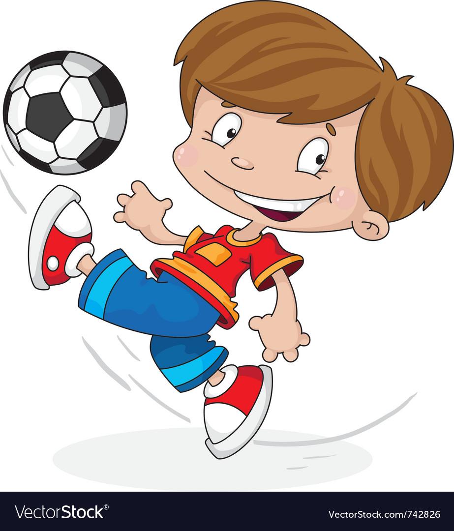 Boy with a ball vector image