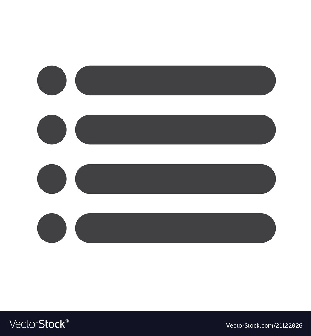 bulleted list icon sign royalty free vector image