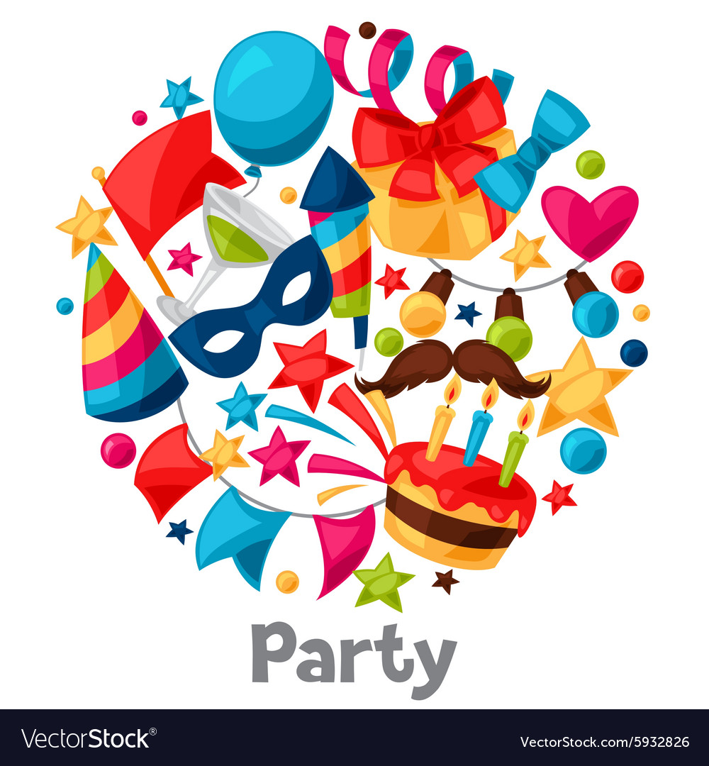 Carnival show and party greeting card with