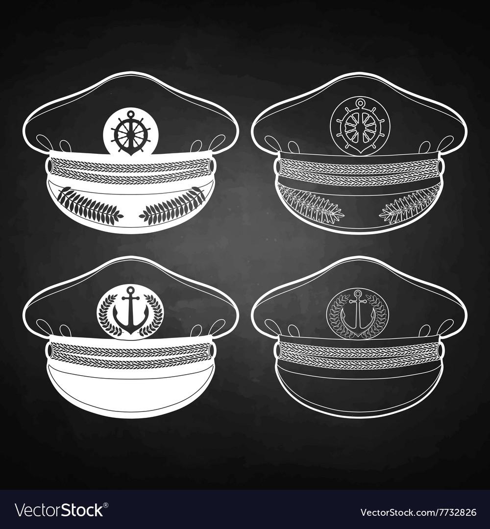 a4e64bf5 Graphic captain cap Royalty Free Vector Image - VectorStock