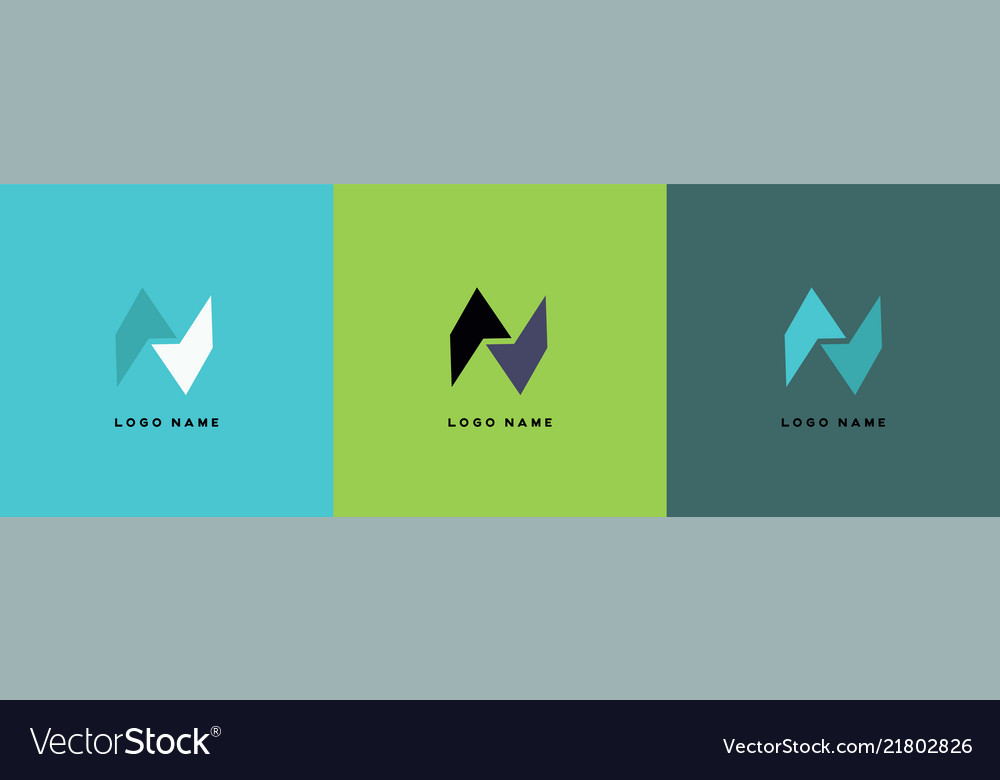 N abstract logo template