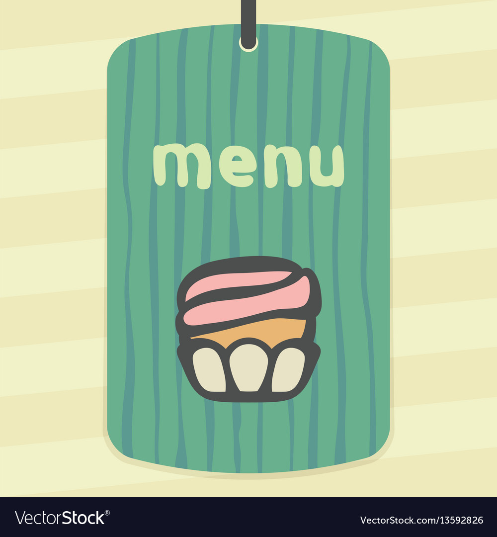 Outline cupcake with cream icon modern infographic vector image