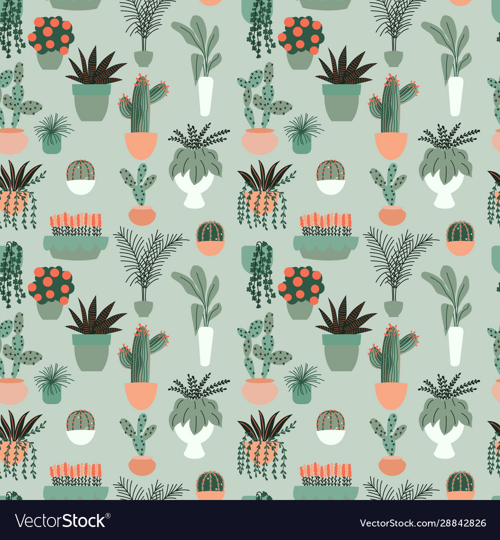 Seamless pattern with collection hand drawn