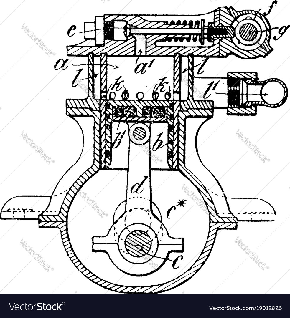 Steam Engine Vintage Royalty Free Vector Image Diagram Of