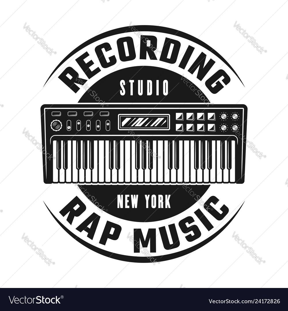 Synthesizer emblem for recording studio