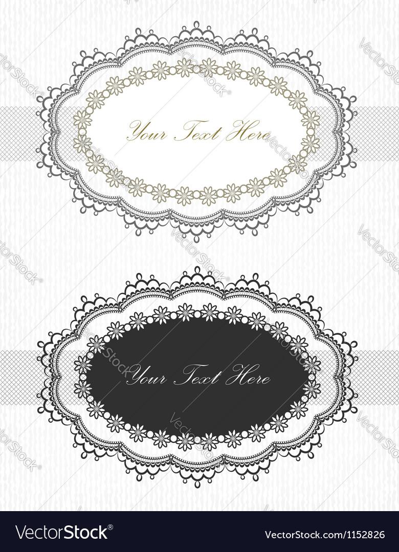 Vintage lace borders set vector image